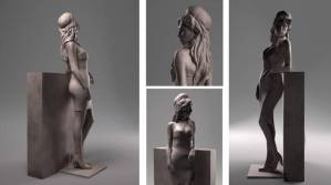 Early designs for the Amy Winehouse Memorial Sculpture