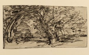 "Joseph Frank Currier's ""Study of Trees"" (around 1880)."